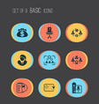 business management icons set with effective vector image