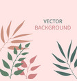 card with plants leaves and copy space vector image vector image