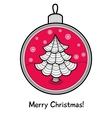 Christmas ball with decoration vector image vector image