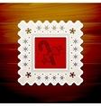 christmas napkin table vector image