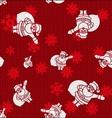 Christmas Santas vector image vector image