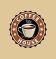 coffee logo or label menu design for cafe and vector image vector image