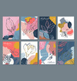 collection eight trendy creative cards vector image