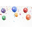Colorful birthday balloons with confetti vector image vector image