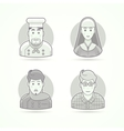 Cook nun stylist and designer icons Avatar and vector image vector image