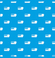 credit card and shield pattern seamless blue vector image vector image
