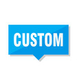 custom price tag vector image vector image