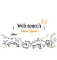 digital content information technology web search vector image