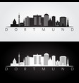 dortmund skyline and landmarks silhouette vector image vector image