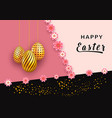 easter holiday banner template with hanging vector image