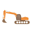 excavator on white background vector image