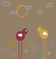 Fancy chickens vector image vector image