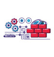 financial technology security icons vector image