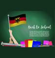 flag of germany on black chalkboard background vector image