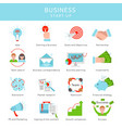flat business project startup elements set vector image