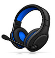 gaming headphones isolated design vector image
