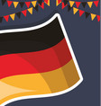 germany flag isolated icon vector image vector image