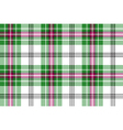 green white pink tartan plaid seamless background vector image vector image