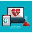 health technology design vector image vector image