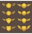 heraldic shapes with wings vector image vector image