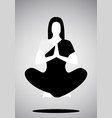 icon girl doing yoga or meditation floating vector image