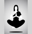 icon of girl doing yoga or meditation floating vector image