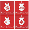 Merry Christmas on red vector image vector image