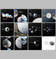minimal brochure templates colorful circles round vector image vector image