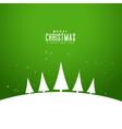 minimal style elegant merry christmas greeting vector image vector image