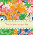Modern Floral Greeting Card vector image