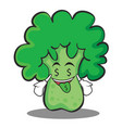 money mouth broccoli chracter cartoon style vector image vector image