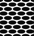 Monochrome seamless ellipse pattern background vector image vector image