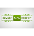 Nature discounted tag Beautiful of a paper label w vector image vector image