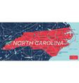 north carolina state detailed editable map vector image vector image