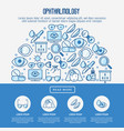 ophthalmology concept with vision care vector image vector image