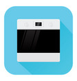 oven flat design blue icon vector image vector image