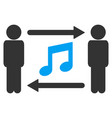 persons music exchange icon vector image