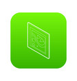 picture in a frame icon green vector image
