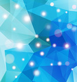 Polygonal abstract geometry background with shiny vector image vector image
