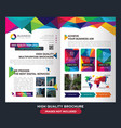 professional brochure business vector image vector image