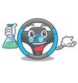professor steering wheel in the character shape vector image vector image