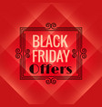 red background for black friday event black vector image vector image