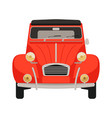 red vintage car flat style vector image vector image