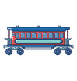 retro passenger wagon icon cartoon style vector image