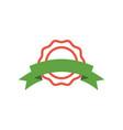 ribbon badge icon design template vector image vector image