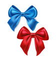 satin bow knot for celebration holiday vector image vector image