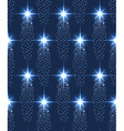 Seamless stars pattern in blue vector image vector image
