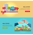 Set of Real Estate Web Banners vector image vector image