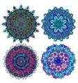 set of round ethnic ornament vector image