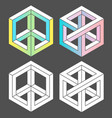 set of unreal white color vector image vector image